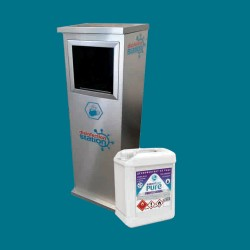 Package price for automatic disinfection station with disinfectant Essentica PURE 5l