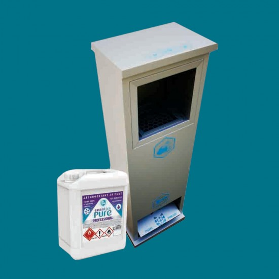 Package price for mechanical disinfection station with disinfectant Essentica Pure 5l