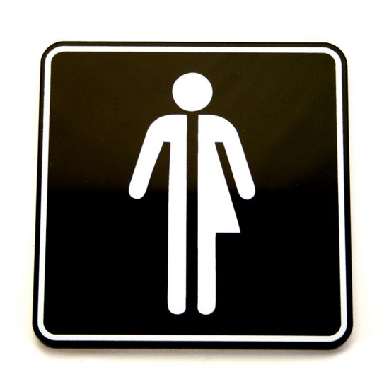 Toilet sign - square